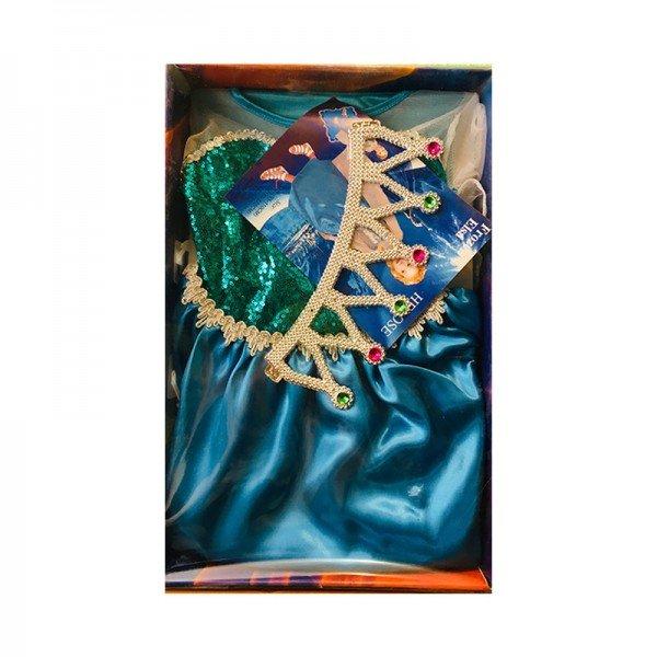 لباس نمایش بالماسکه کودک طرح السا مدل 48725