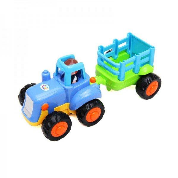 ماشین بازی HUILE TOYS تراکتور اسباب بازی آبی مدل 326AB