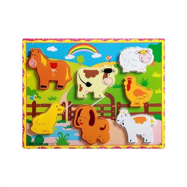 پازل چوبی حیوانات مزرعه مدل 4106