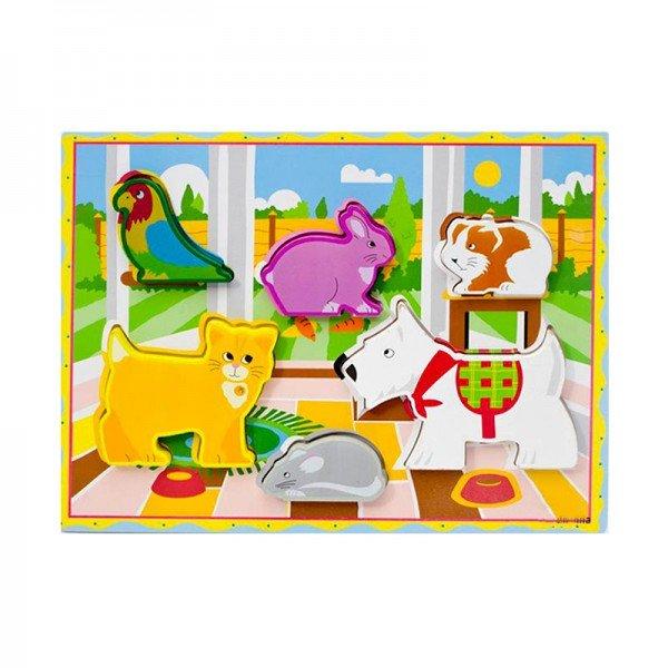 پازل چوبی حیوانات اهلی  مدل 4106