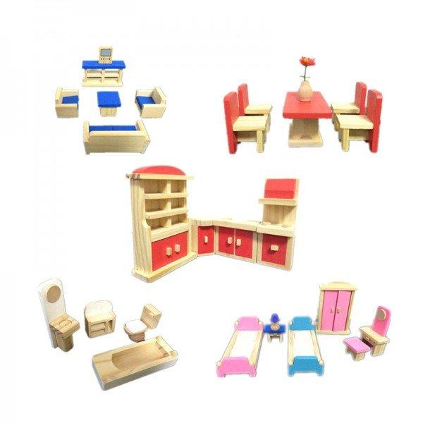 اسباب بازی چوبی ست وسایل خانه 35 تکه مدل 9831