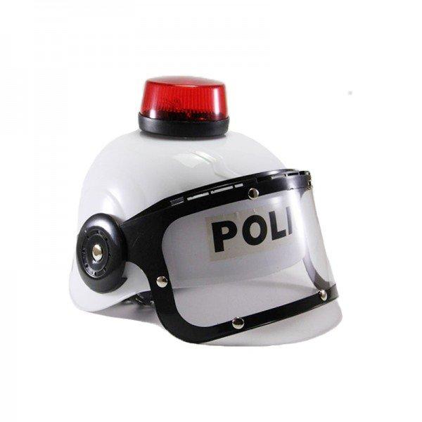 کلاه پلیس کودک همراه با آژیر رنگ سفید