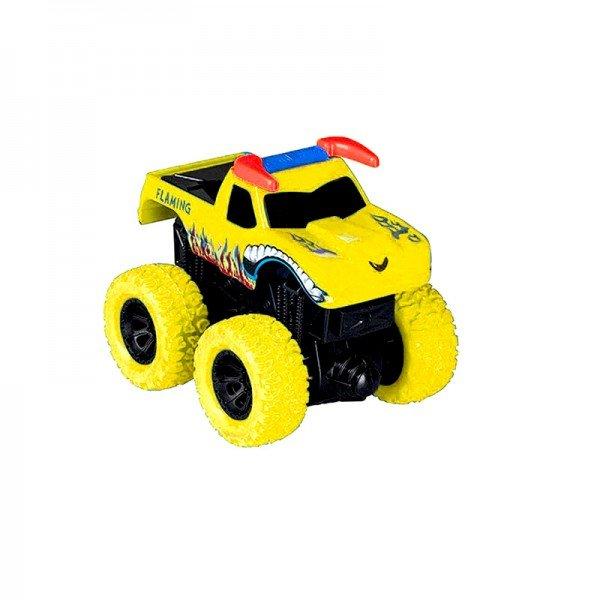 ماشین قدرتی نشکن زرد طرح flaming مدل 998112