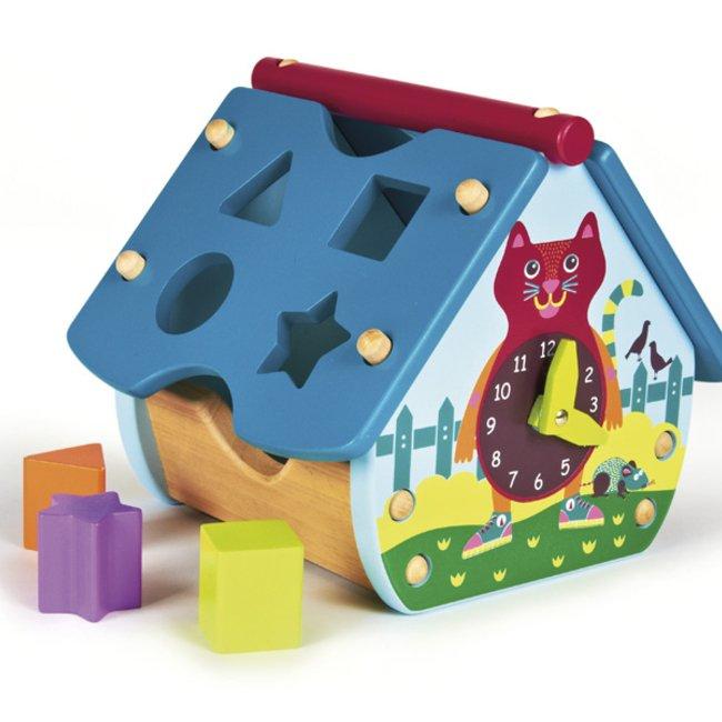 اسباب بازی چوبی جورچین کودک طرح کلبه چوبی شهر Oops كد 1600320