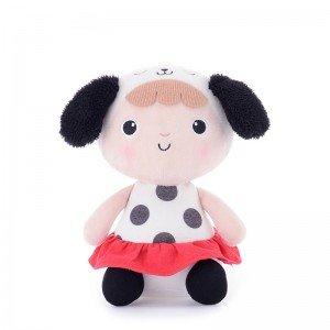 عروسک دخترک نشسته با لباس سفید مدل JAA905
