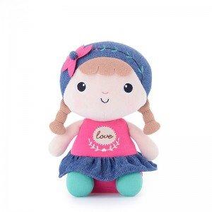 عروسک دخترک نشسته با لباس صورتی مدل JAA905