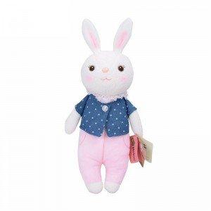 عروسک خرگوش با لباس سرمه ای مدل JAA931