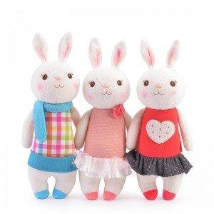 عروسک خرگوش با لباس چهارخانه مدل JAA931