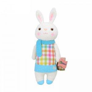 خرید عروسک خرگوش با لباس چهارخانه مدل JAA931
