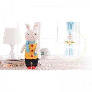 خرید عروسک خرگوش با لباس زرد مدل JAA931