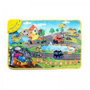 تشک بازی و پارک بازی موزیکال کودک طرح قطار مدل LT2939