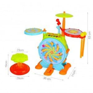 ابعاد ست جاز کودک Huile Toys مدل 666