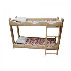 تخت خواب دو طبقه چوبی مدل 0530