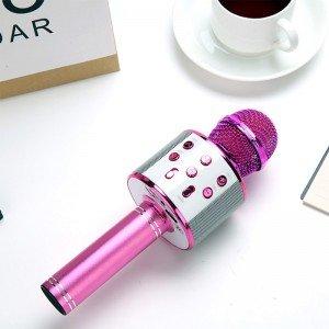 قیمت میکروفون اسپیکر دار صورتی مدل 858