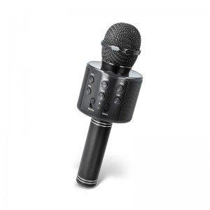 میکروفون اسباب بازی اسپیکر دار مشکی مدل 858