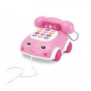 تلفن کشیدنی موزیکال صورتی Winfun مدل 006630