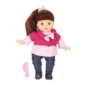عروسک زیبا با لباس بافت صورتی مدل 61346