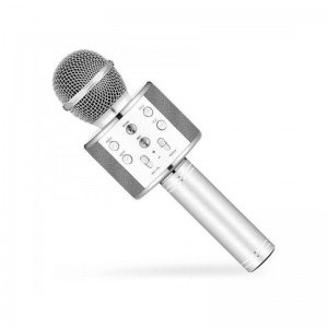 میکروفون اسپیکر دار نقره ای مدل 858