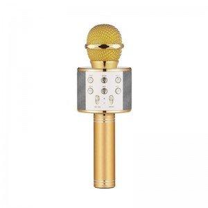 میکروفون اسپیکر دار طلایی مدل 858