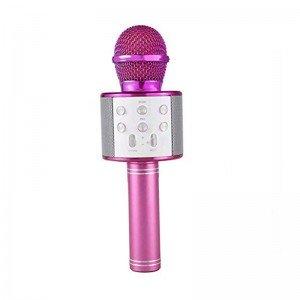 میکروفون اسپیکر دار صورتی مدل 858