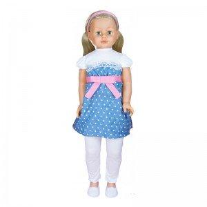 عروسک بزرگ با لباس سفید آبی لوتوس مدل 350014