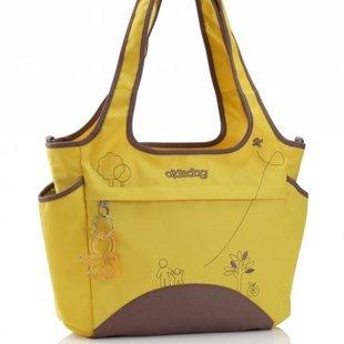 کیف زرد و قهوه اي لوازم كودك مدل 28304