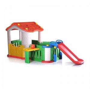 خرید کلبه کودک بازی با سرسره مدل  CHD806