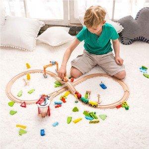خرید اسباب بازی چوبی ریل قطار