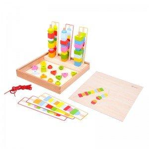 جعبه آموزش با مهره های رنگی Classic World مدل 8012