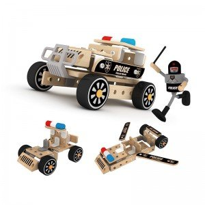 ماشین چوبی کودک طرح پلیس Classic World مدل 3811