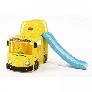 سرسره کودک طرح اتوبوس با حلقه بسکتبال  مدل Y1543
