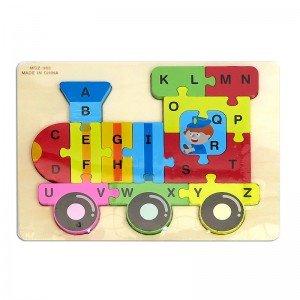 پازل چوبی قطار با حروف انگلیسی