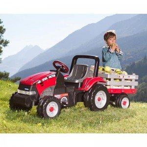 خرید تراکتور پدالی قرمز با تریلر peg perego مدل 0551
