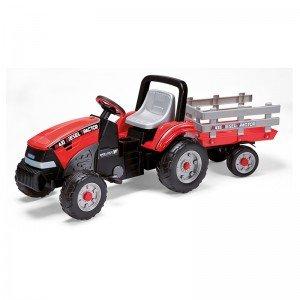 فروش تراکتور پدالی قرمز با تریلر peg perego مدل 0551