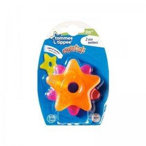 دندانگیر مایع دار نوزاد طرح ستاره نارنجی صورتی  tommee tippee کد 43621230