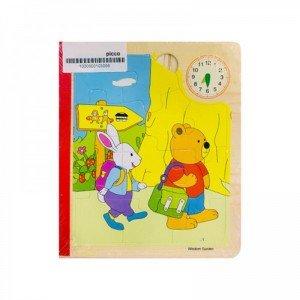 پازل چوبی 6 صفحه ای خرس