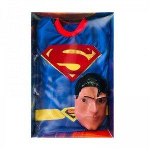 لباس نمایش بالماسکه کودک عضله دار سوپرمن مدل 7446