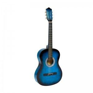 گیتار چوبی بزرگ کودک رنگ آبی مدل 2245