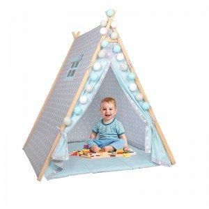 چادر بازی کودک طوسی آبی طرح ستاره Isiz مدل 5500