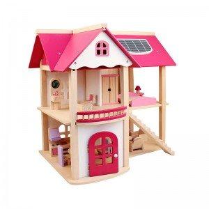 خانه عروسکی چوبی مدل LZM007