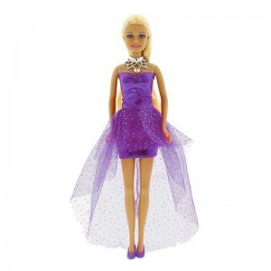 عروسک دفا با لباس بنفش مدل 8354