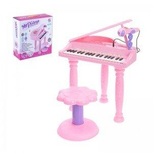 پیانوی صورتی با صندلی مدل 6615