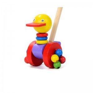 واکر غلتان اردک چوبی مدل 10838
