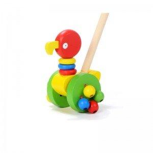 واکر کودک چوبی طرح طوطی مدل 10838