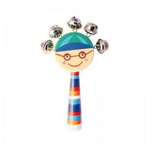اسباب بازی چوبی جغجغه کودک رنگ سبز پسرانه مدل 7790