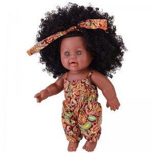 قیمت عروسک سیاه پوست با لباس نارنجی مدل 64114