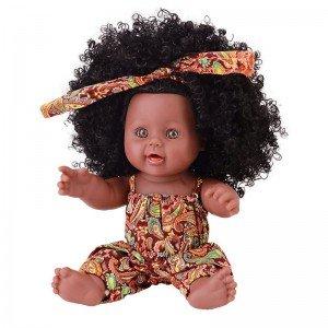 خرید عروسک سیاه پوست با لباس نارنجی مدل 64114
