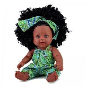 عروسک سیاه پوست با لباس سبز مدل 64114
