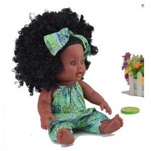 قیمت عروسک سیاه پوست با لباس سبز مدل 64114