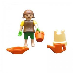 آدمک کودک با لوازم شن بازی playmobil مدل 10022